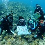 宮古島ダイビング通信:Mさん、200ダイブ♪