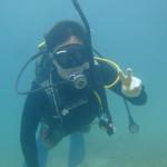 宮古島ダイビング通信:透明度回復