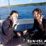 今日のボート体験ダイビングに参加されたUさんたち