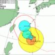 台風24号進路図