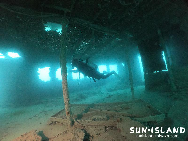 下地島ダイビングスポット『沈船』