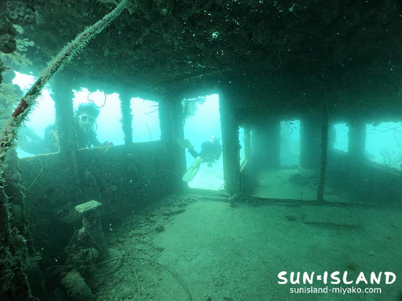 伊良部島ダイビングスポット『沈船』